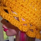 Womens'  Laced Brim Sunflower Hat