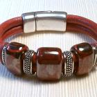 Euro Italian Leather Bracelet, Item #457