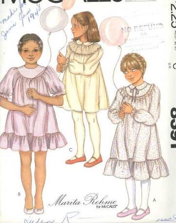 Mccalls 8391 sewing pattern girls modern prairie dress size 5