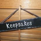 Keepsakes Primitive Wooden Sign