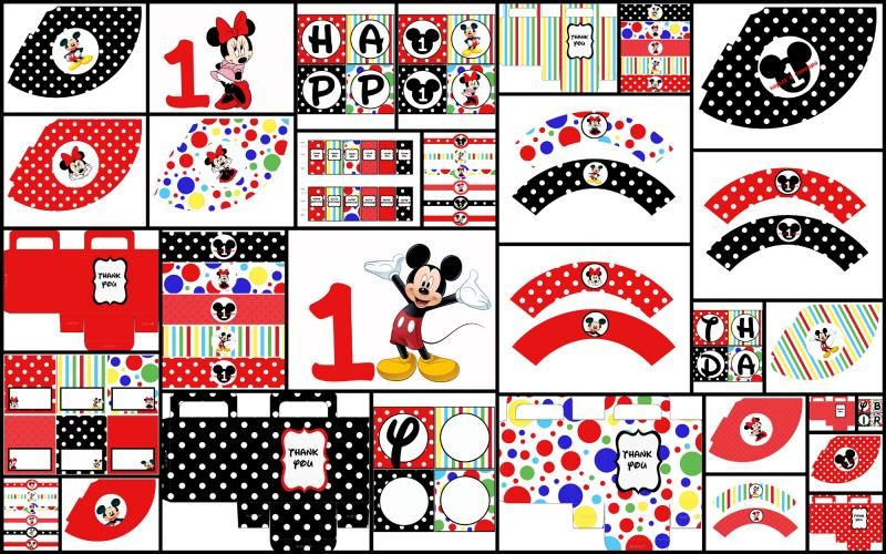 Magnificent Mickey Mouse Party Printables Free 800 x 500 · 125 kB · jpeg