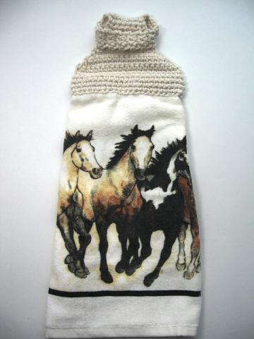 Running Horses Towel