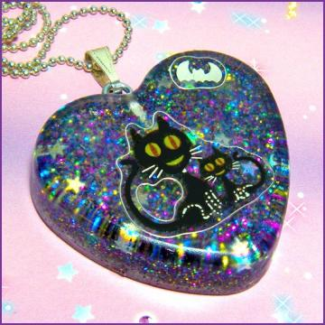 Black Cats - Resin Necklace