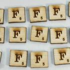 "Scrabble alphabets upper cap ""F"""