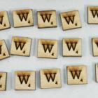 "Scrabble alphabets upper cap ""W"""