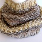Heathered Stripe Cowl