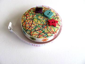 Doodles Fabric Covered Pocket Tape Measure