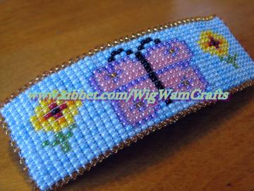Hand Beaded Butterfly Fashion Barrette