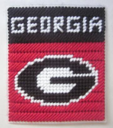 Georgia Bulldogs tissue box cover in plastic canvas
