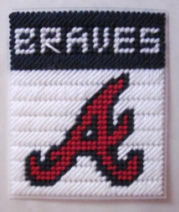 Atlanta Braves tissue box cover in plastic canvas PATTERN ONLY