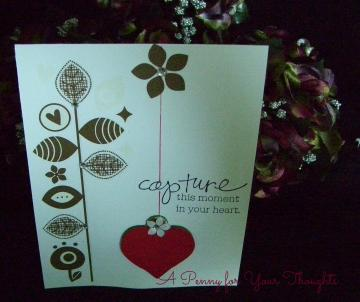 Capture This Moment In Your Heart Handmade Valentine