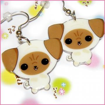 Kawaii Pug Earrings