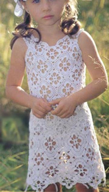Girls Dresses Vintage Crochet Patterns PDF Download