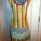 Reversible Womans Full Apron - Home Sweet Home-Red, Aqua & Yellow