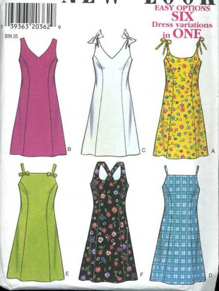 Colorful Easy Summer Dress Sewing Pattern Component - Knitting ...