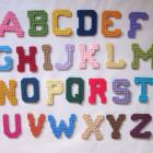 ABC magnets in plastic canvas