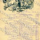DIGITAL SCAN 1902 PARIS restaurant Menu hand written French Script Superb