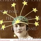ATC size DIGITAL Scan Lady Liberty STARS Flapper 1920s Art Deco French postcard photo download