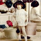DIGITAL Scan SHOPPING Victorian girl with Hat Boxes Edwardian French Modiste Fashion postcard photo download