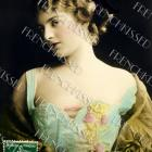 DIGITAL scan Victorian BEAUTY antique Decollete Pastels French 1909 postcard Photo Download