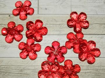 Acrylic flowers, Bright red