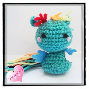 Handmade Crochet Rainbow Dash My Little Pony Amigurumi Toy Plush Kawaii MLP