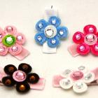 BABY bling flower clips