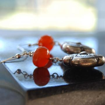 Orange Glow Earrings