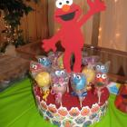 Sesame Street Or Elmo- Cake Pop - Cupcake or Lollipop Stand - Makes A Great Centerpiece too- The Hit of the Party