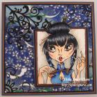 Good Fortune OOAK handmade art card