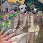 Keepers of The Garden Gate ~ ORIGINAL Anthropomorphic Watercolor/Collage