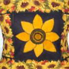 Handmade, Sunflower, Pillow, Wrap, Cover, wool, cotton