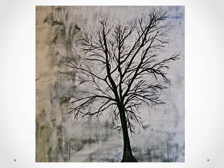 Click to enlarge image - White painted tree branches ...