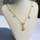 Amethyst, Crystal & Gold Necklace