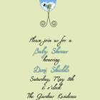 Digital Posh Luvbug Baby Shower Invitation