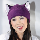 PURPLE FOX fleece hat cosplay anime ski snowboard
