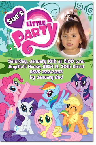 My Little Pony Birthday Invitations (DOWNLOAD JPG IMMEDIATELY)