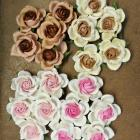 1-3/8 inches paper flowers mix colors-20 Flowers