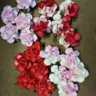 1-1/4 inches paper flowers -mix colors
