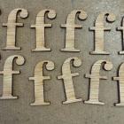 "Wood alphabet low cap""f"""