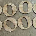 "Wood alphabet low cap""o"""