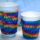 Cup Sleeves in a Rainbow of WEDDING Colors for favors