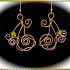 Earring, Dangle, Gold, Silver, Crystal, Wire Work, Mothers Day, One of a Kind, Statement