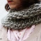 Pure Wool Knit Cowl Your Color Choice