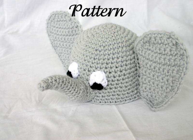Crochet Pattern For Baby Elephant Hat : Modal title