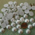 White half Resin beads pearl 16mm 50 pieces