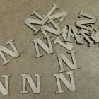 "Chipboard alphabet""N""-15 Pieces"