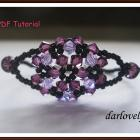 Purple Flower Bouquet Bracelet (BB085) - PDF Tutorial