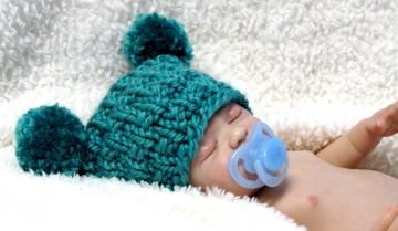 Knitting Pattern For Baby Jester Hat : Click to Enlarge Image