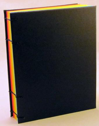 rainbow pride, sketchbook, journal, multi colored pages, blank, jotter